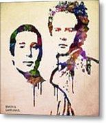 Simon And Garfunkel Metal Print by Aged Pixel