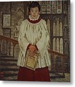 Simon - Winchester Cathedral Choral Scholar Metal Print