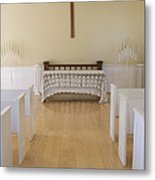Simple Sunlit Chapel Metal Print