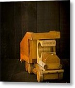 Simpler Times - Old Wooden Toy Truck Metal Print