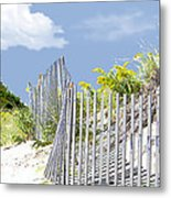 Simplified View Of Coastal Dune Metal Print