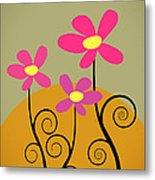 Simply Flowers Metal Print