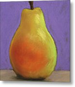 Simply Pear Metal Print