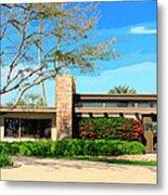 Sinatra Home Palm Springs Metal Print by William Dey