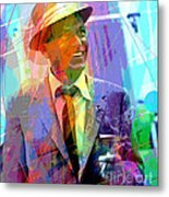 Sinatra Swings Metal Print by David Lloyd Glover