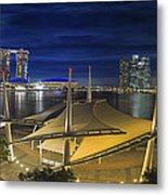 Singapore Central Business District Skyline At Dusk Metal Print