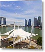 Singapore City Skyline From The Esplanade Metal Print