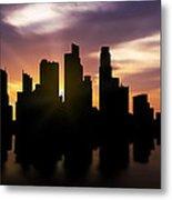 Singapore City Sunset Skyline  Metal Print