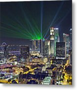 Singapore Cityscape At Night Metal Print