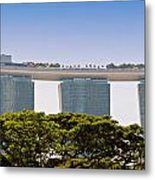 Singapore Marina Bay Sands And Skypark Metal Print