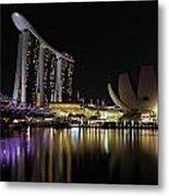 Helix Bridge To Marina Bay Sands Metal Print