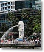 Singapore Merlion Park Metal Print