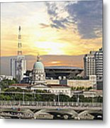 Singapore Parliament Building And Supreme Law Court  Metal Print