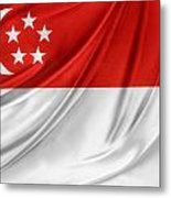 Singaporean Flag Metal Print