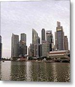 Singapore's Marina Bay Metal Print