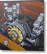 Singer Porsche Engine Metal Print