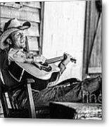 Singing Cowboy Metal Print