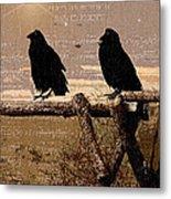 Singing Crows Metal Print