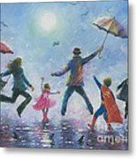 Singing In The Rain Super Hero Kids Metal Print