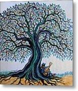 Singing Under The Blues Tree Metal Print