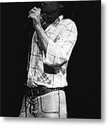 Singing With His Heart And Soul Metal Print