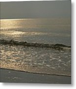 Single Breaker At Dawn On Hunting Island  Metal Print
