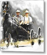 Single Horse Power Metal Print