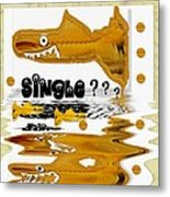 Single Shark Pop Art Metal Print by Pepita Selles