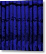 Singles In Blue Metal Print