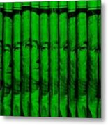 Singles In Green Metal Print