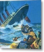 Sinking Of The Titanic Metal Print