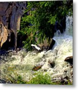 Sinks Waterfall Metal Print by Karen Wiles
