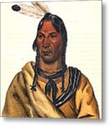 Sioux Chief 1883 Metal Print