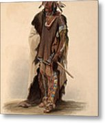 Sioux Warrior Metal Print