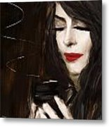 Sip Of Relaxation Metal Print