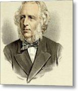 Sir Charles Reed  Educationalist Metal Print