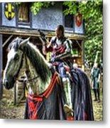 Sir Lancelot Du Lac - V2 Metal Print