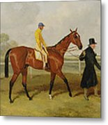 Sir Tatton Sykes Leading In The Horse Sir Tatton Sykes With William Scott Up Metal Print