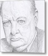 Sir Winston Churchill Metal Print