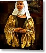 Maid Marian - Sire I Kan Not Quod She Metal Print