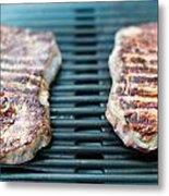 Sirloin Steak On The Barbecue Grill Metal Print