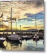 Sirmione Sunset Metal Print