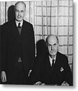 Sirs William And Lawrence Bragg Metal Print