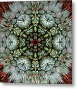 Sister Cactus Mandala Metal Print