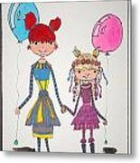 Sisters Friends Metal Print by Mary Kay De Jesus