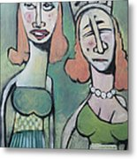 Sisters Going To The Ball Metal Print