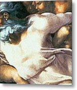 Sistine Chapel Ceiling Creation Of Adam Metal Print by Michelangelo Buonarroti