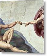 Sistine Chapel Ceiling Metal Print by Michelangelo Buonarroti