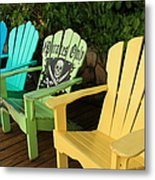 Sit At Your Own Risk Metal Print