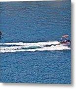 Sit Down Hydrofoil Ski Sport Metal Print